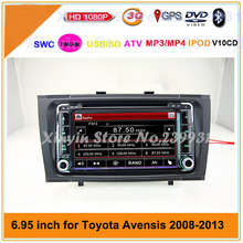 2 din CAR DVD Player For Toyota Avensis 2009- 2012 GPS Navigation TV IPOD BT Multimedia Video Player system+Free GPS map
