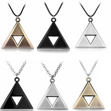 Buy New 2017 Legend Zelda Triforce Necklace Woman Man Link Chain Triangle Shape Zelda Movie Necklace Bijoux for $1.41 in AliExpress store