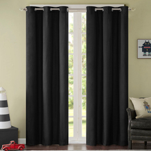 Solid Pink Ivory Princess Full Black Out Blinds Slide Fabric Window Curtain Thick High Quality Custom Size Decorative for Rooms(China)
