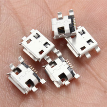 10Pcs Micro USB Jack Connector Type B Female 5Pin Tail Board 0.8 Type Solder Socket Connectors Charging Socket for PCB Board