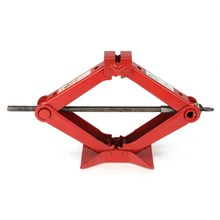 1.8T Red Heavy Duty Scissor Manual Jack Car Tyre Wheel Replacemet Tool Quick Lift + Crank Handle(China)