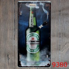 Plaque Metal Decorative Voiture Tin Plate Beer Vintage Metal Tin Sign Plate Sign Wall Decoration for Cafe Home and Restaurant