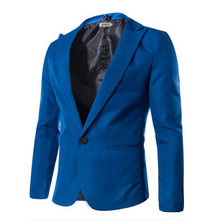 Special treatment 2017 New Arrival Spring Fashion Candy Color Stylish Slim Fit Men's Suit Jacket Casual Business Dress Blazers