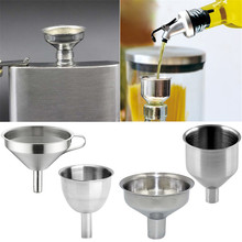 Functional Stainless Steel Funnel Kitchen Oil Honey Funnel with Detachable Strainer/Filter for Perfume Liquid Water Tools(China)