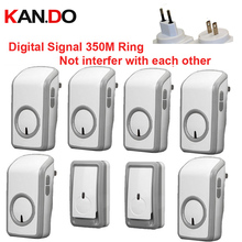 bell kits with 2 emitters+6 receiver wireless doorbell Waterproof 380 Meter door chime 48 melodies door ring digital signal ring