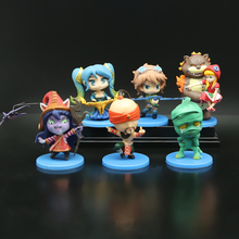 Game  PVC Action figures 6 styles EZ Lulu Annie Lee Sin Amumu Sona toys High quality Christmas Gift