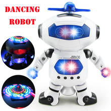 New RC Robot Electric Smart Space Walking Dancing with Light Music Cool Astronaut Model Children Kids Stunt Toys Gift(China)