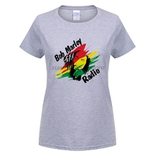 GILDAN Most popular style BOB MARLEY Music theme avatars The high quality In the summer women's short sleeve T-shirt(China)