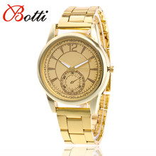 Lowest Price 2017 Famous Brand Gold Casual Quartz Watch Women Full Stainless Steel Dress Women Watches Relogio Feminino Clock