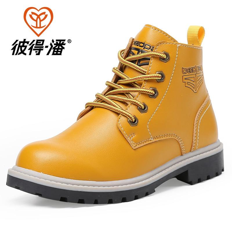 Winter Sport Shoes Kids Sneakers Boys Girls Children Running Shoes Waterproof England Shoes<br><br>Aliexpress