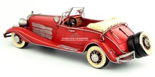Antique classical car model retro vintage wrought handmade metal crafts roadster for home/pub decoration or gift