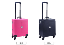 Aluminum Rolling Makeup Case Cosmetic Train Trolley Box Drawer(China)