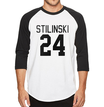 Summer New Three Quarter Sleeve Teen Wolf Stilinski 24 T Shirt Men 100% Cotton High Quality Fashion Casual T-Shirt(China)