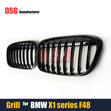 F48 Glossy Black Bumper Kidney Grills Grille For BMW X1 F48 2015 + 5 Doors Wagon Estate Mesh Gird