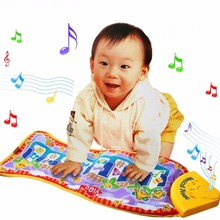High Quality Piano Music Fish Animal Mat Touch Kick Play Fun Toy For Kid Baby Child Gifts 63cm * 29cm(China)