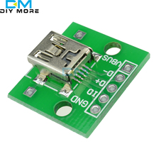 5pcs Mini USB to DIP Adapter Converter for 2.54mm PCB Board DIY Power Supply NEW(China)