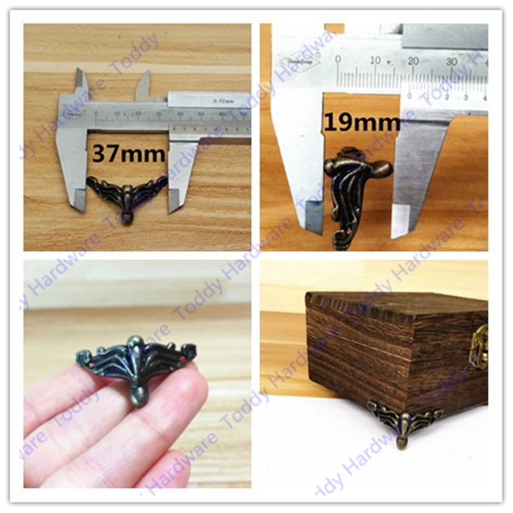 50pcs 37*20mm Antique Brass Vintage Bronze Jewelry Chest Gift Box Wooden Case Decorative Feet Leg Furniture Caster<br>