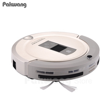 Large LCD Display Mini Robot Vacuum Cleaner 4 in 1 Auto Recharge,Remote Control,Virtual Isolator Wall and Mopping Vacuum Cleaner(China)