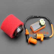 Scooter High Performance 6 Pin CDI Box Ignition Coil & High Flow Air Filter GY6 150cc FREE SHIPPING