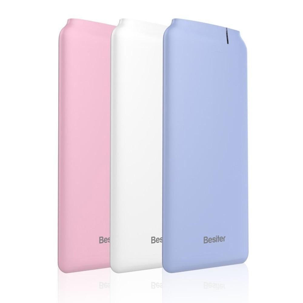 Besiter mini Power Bank 10000mah Portable External Battery charger Mobile Phones powerbank bateria externa cargador portatil