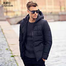 Enjeolon Brand winter hoodies Cotton Padded Jacket Men Windproof Parka man Thick Quilted puls size 3XL Coat Men MF0008(China)
