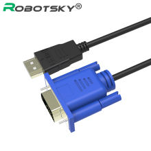 1.8M 3M 5M HDMI To VGA Cable male to male Video Adapter only for HD player to HDTV HDMI Kabel Cabo adapter
