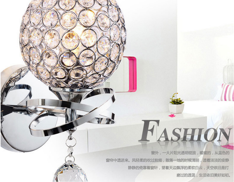 Free shipping  Simple style modern crystal wall lamp for stair lamp,bedroom lamp crystal glass prism<br>