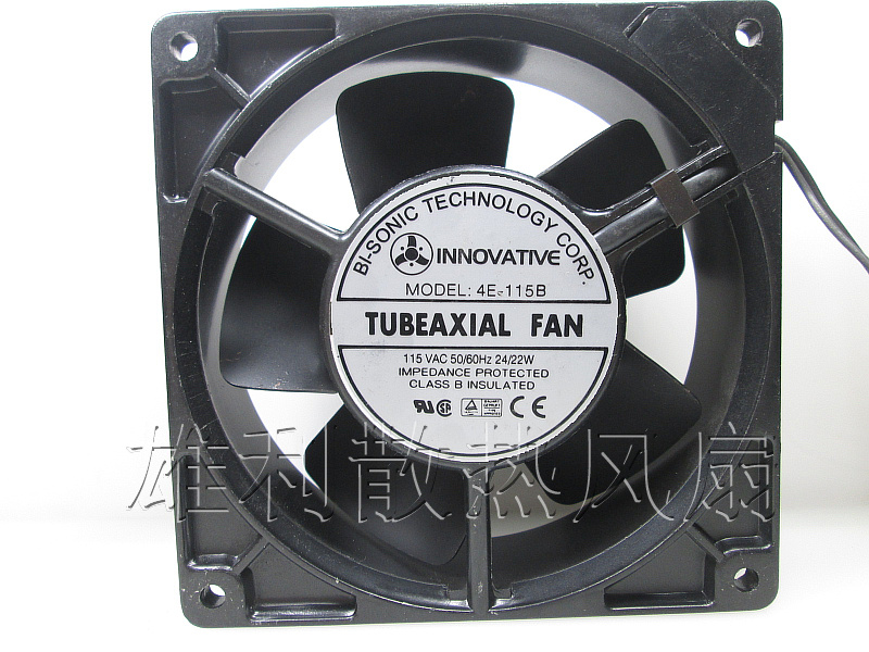 Free Delivery.4E-115B fan 12038 iron leaf high temperature cooling fan 12cm<br>