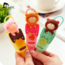 FHEAL CuteTeddy Bear Portable Fruity Hand Sanitizer Reusable Bottle Leave-in Liquid Soap Bathroom Accessories