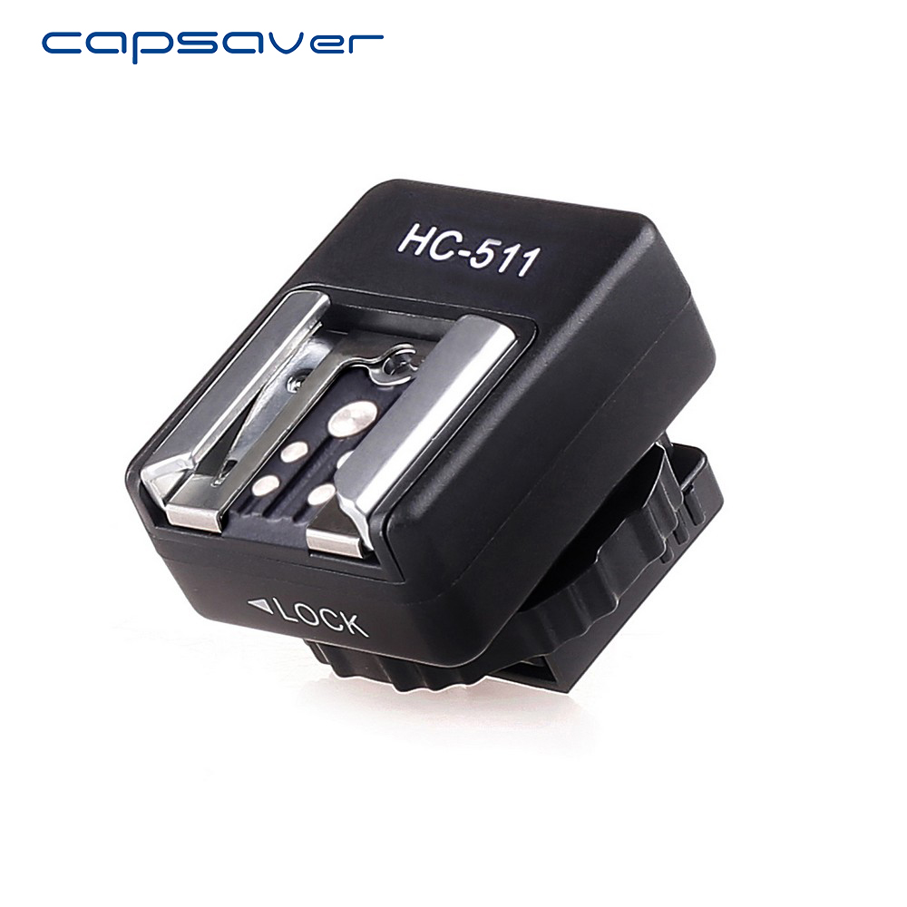 capsaver Flash Hot Shoe Adapter Convert Sony Cameras Canon Speedlite Flash Accessory Hot Shoe Converter HC-511