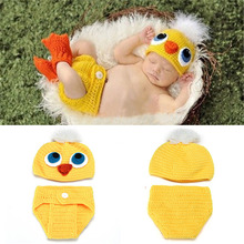 Crochet Duck Two Piece Set Hat Diaper Baby Photography Prop Knitted Baby Clothing Animal Costume Newborn Shower Gift MZS-14035-2(China)
