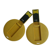 Brand your own Round shape business card cheap usb memory stick 2gb usb flash drive wholesale