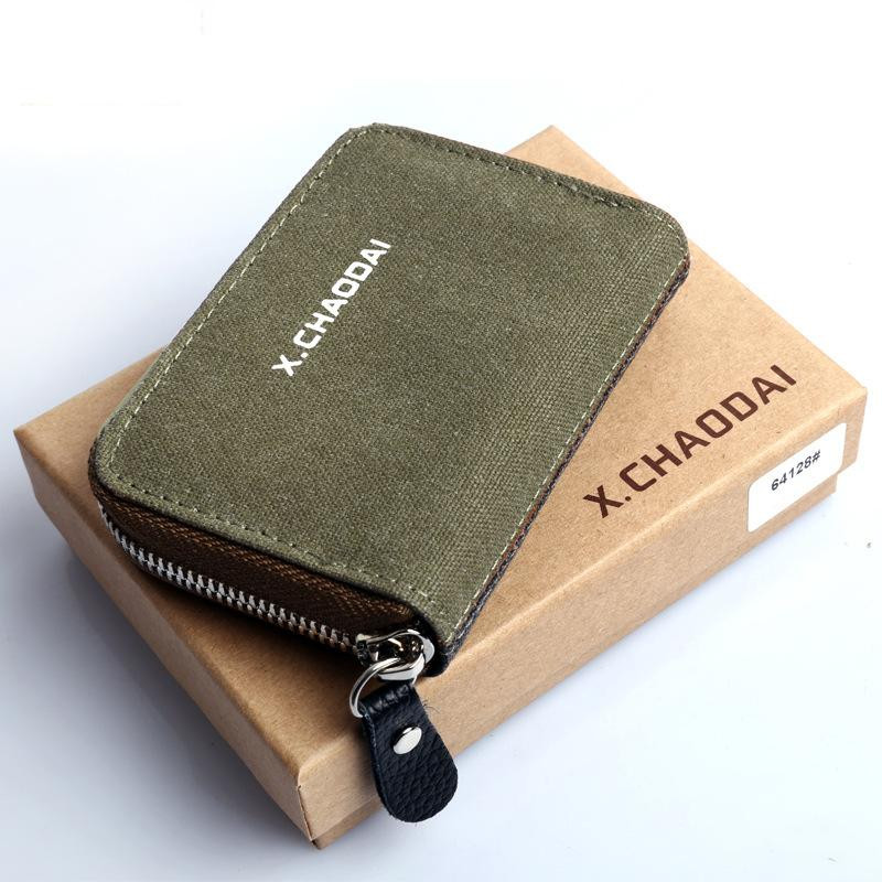 2017 new solid short vintage unisex Canvas clutch wallets cool coin purse canvas card holders wholesale price zipper key wallets<br><br>Aliexpress