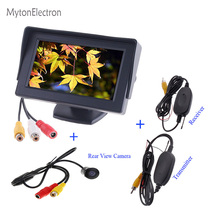 2.4GHz Wireless RCA Transmitter & Receiver + Backup Hole Rearview CCD Camera + 4.3 inch TFT LCD Mirror Monitor