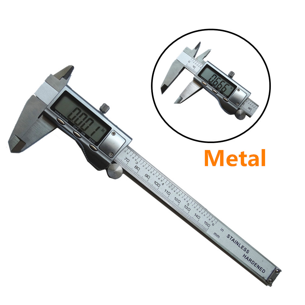 Digital Caliper 0-150mm/6 Stainless Steel Metal Casing Digital CALIPER VERNIER Caliper GAUGE MICROMETER Electronic Caliper ZK01<br><br>Aliexpress