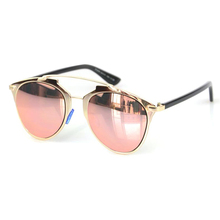 Cat Eye Mirror New Arrival Sunglasses Hot Sale Women Or Men UV400 aviation Mirror Sun Glasses Brand Design Rose Gold