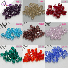 Top quality 3mm,6mm Bicone beads  Crystal Beads charms fashion Glass Beads Loose Spacer Beads DIY Jewelry Making Accessories