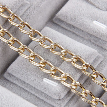 Metal Rose Gold Straight Textured Cable Necklace Twisted Curb Chains Bulk Fit Bracelets Open Link Chain For DIY Jewelry Making