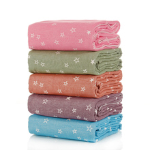 1 piece Stars Dove Print 100% Cotton Blanket For Adults Women Children Rectangle 150x200cm In Bedroom Factory Direct(China)