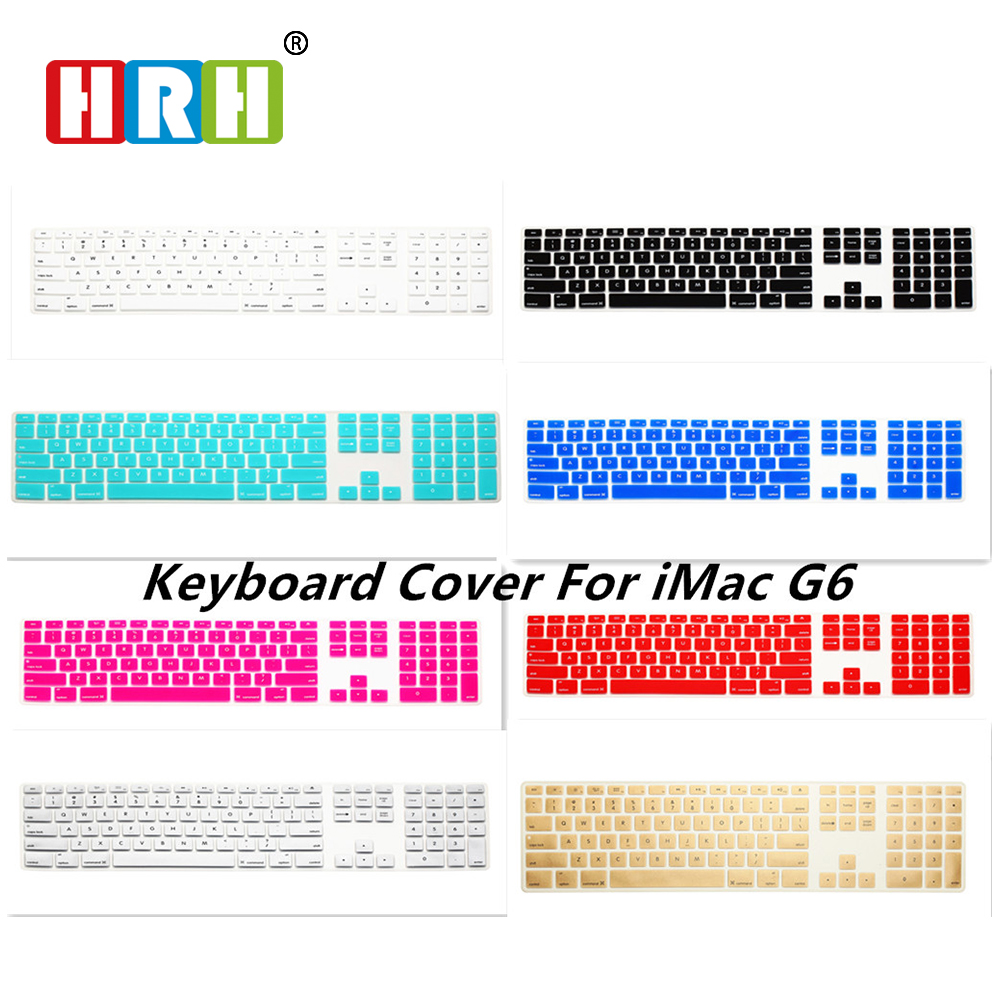 HRH Computer Desktop Color Silicone Gel keyboard Cover Keypad Skin Protector with Numeric Keypad for Apple iMac G5/G6 MB110LL/A(China (Mainland))