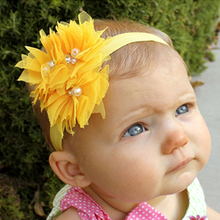 1PC  Pearl Flower Headband Children Hats Headbands Infant Toddler Girl Headband Hair Hand Hair Clips Hair Accessories W085
