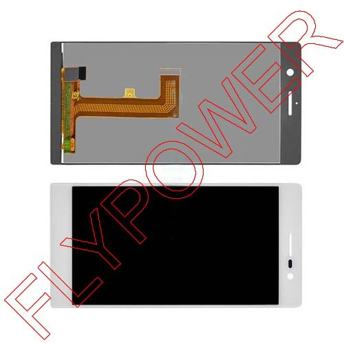For Huawei Ascend P7 LCD Dispaly With Touch Screen Digitizer  Assembly white by free shipping<br><br>Aliexpress