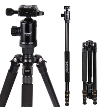 Zomei Z688 Q666 Professional Photographic Travel Compact Aluminum Heavy Stable Tripod Monopod Ball Head for Digital DSLR Camera(China)