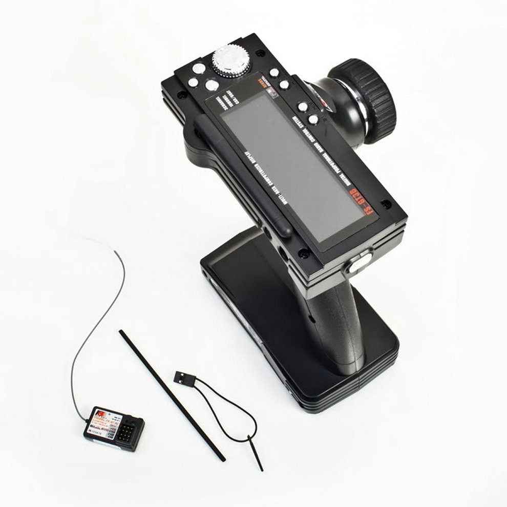 FS-GT3B 2.4G 3CH RC Boat or Car Control Gun Transmitter &amp; Receiver For the Radio Control Models High Sensitivity with LED Screen<br>