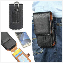 "4.7"" High Quality pu Leather TMobile Phone Waist Bag for Highscreen Alpha Rage"