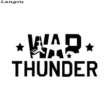 Langru Personality War Thunder Car Stying Car Window Funny Stickers Vinyl Graphics Decals JDM(China)