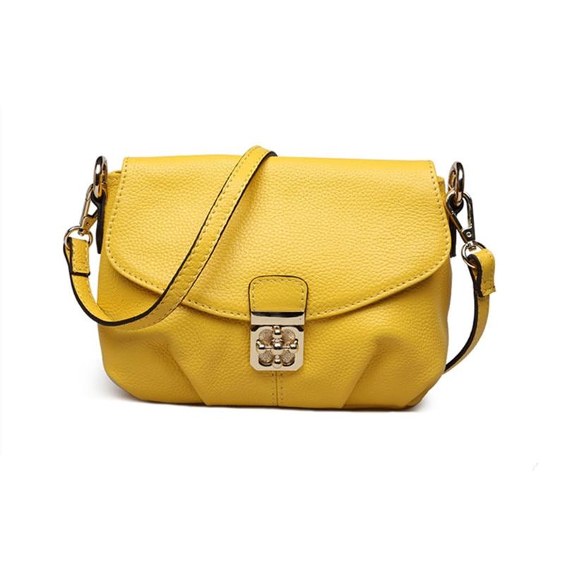 Small Casual Women Messenger Bags Real Leather Plum Flower Buckle Crossbody Bags Ladies Purse And Handbags White Bolsas Feminina<br>