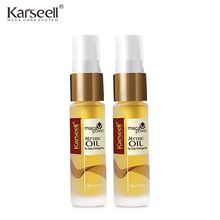 2pcs Moroccan Argan Oil Hair Oil Keratin Hair Straighten Treatment Nut Oil Pre-perm Hair Repair Dry Split Ends Hair Care Product