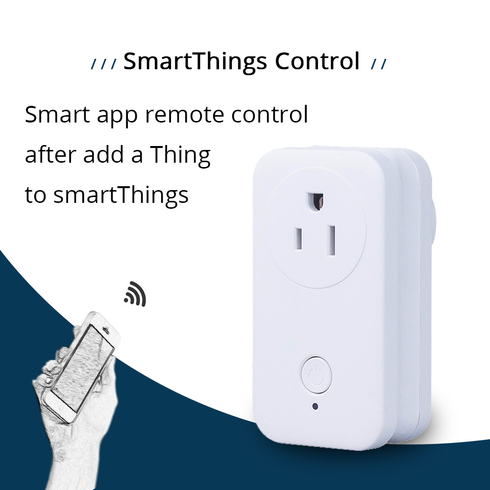 Zigbee 3.0 US Power Socket Compatible With SamrtThings Echo Plus Smart Gadget Switch Wireless Phone APP Remote Outlet(6)