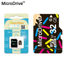 Microdrive Whole Sale Price Memory Card Real Capacity Micro SD Card 64GB 32GB 16GB 8GB Microsd Flash Card Class 10 Free Shipping